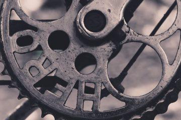 Verroeste fietsketting verhelpen